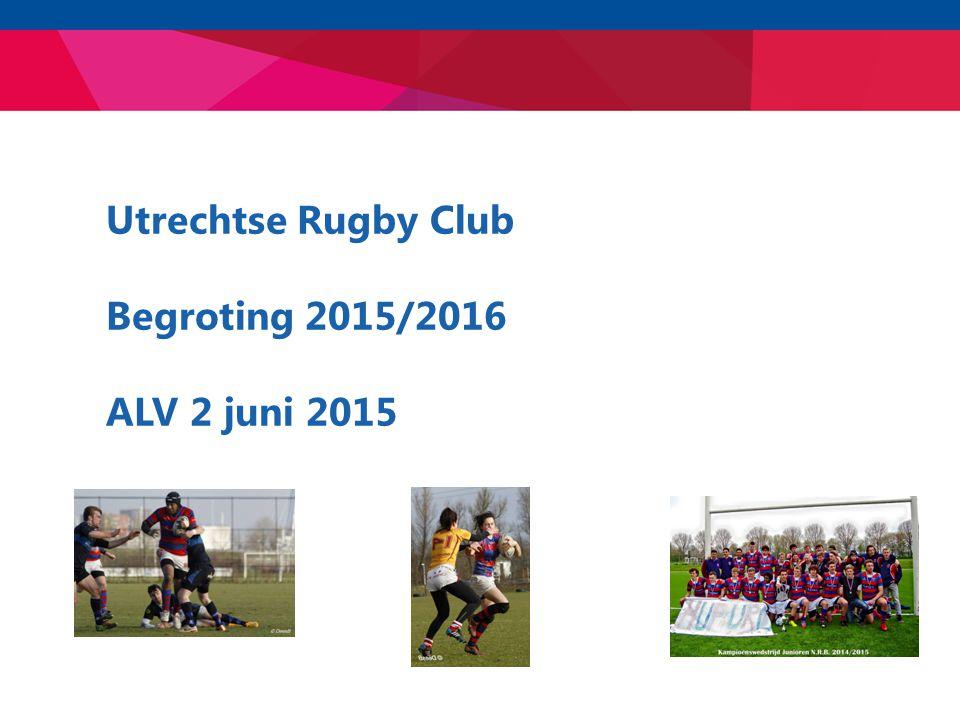 Utrechtse Rugby Club Begroting 2015/2016 ALV 2 juni 2015
