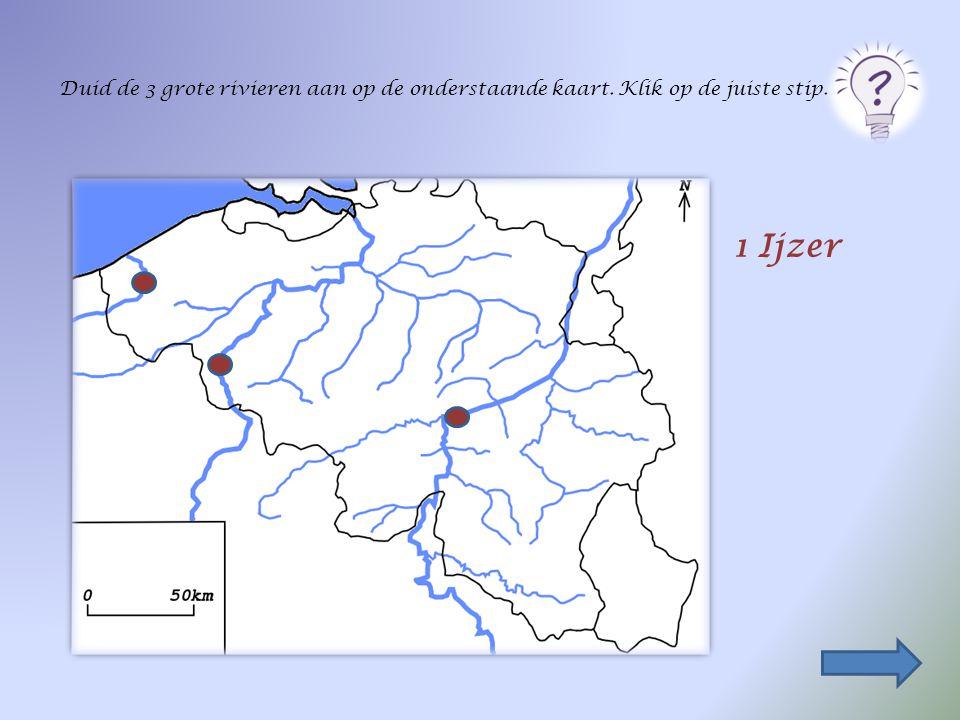 Duid de 3 grote rivieren aan op de onderstaande kaart