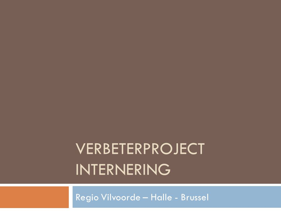 Verbeterproject internering