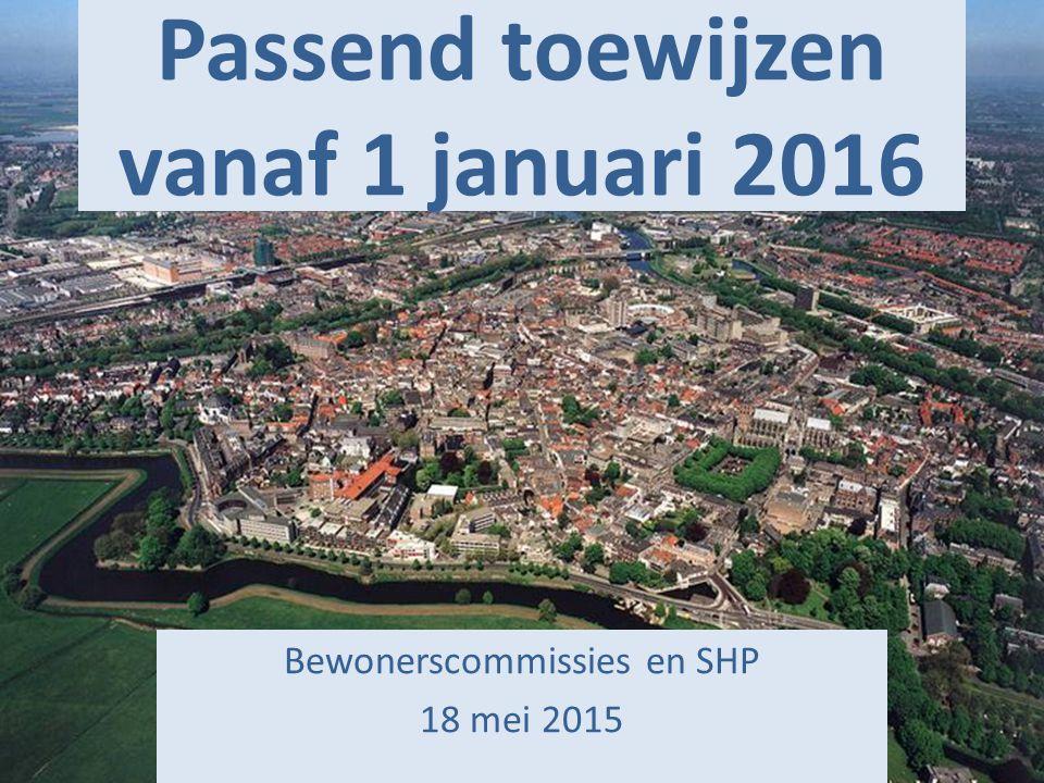 Passend toewijzen vanaf 1 januari 2016