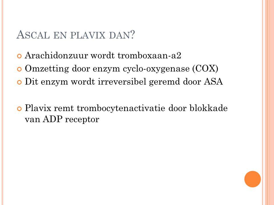 Ascal en plavix dan Arachidonzuur wordt tromboxaan-a2