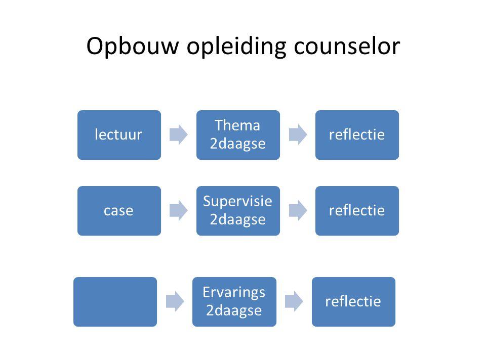 Opbouw opleiding counselor