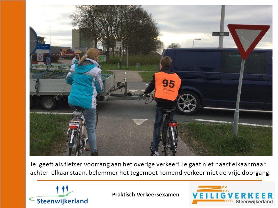Je geeft als fietser voorrang aan het overige verkeer
