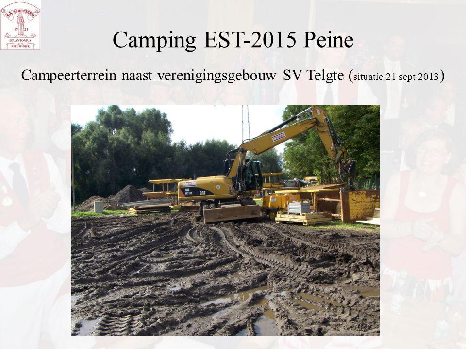 Camping EST-2015 Peine Campeerterrein naast verenigingsgebouw SV Telgte (situatie 21 sept 2013)