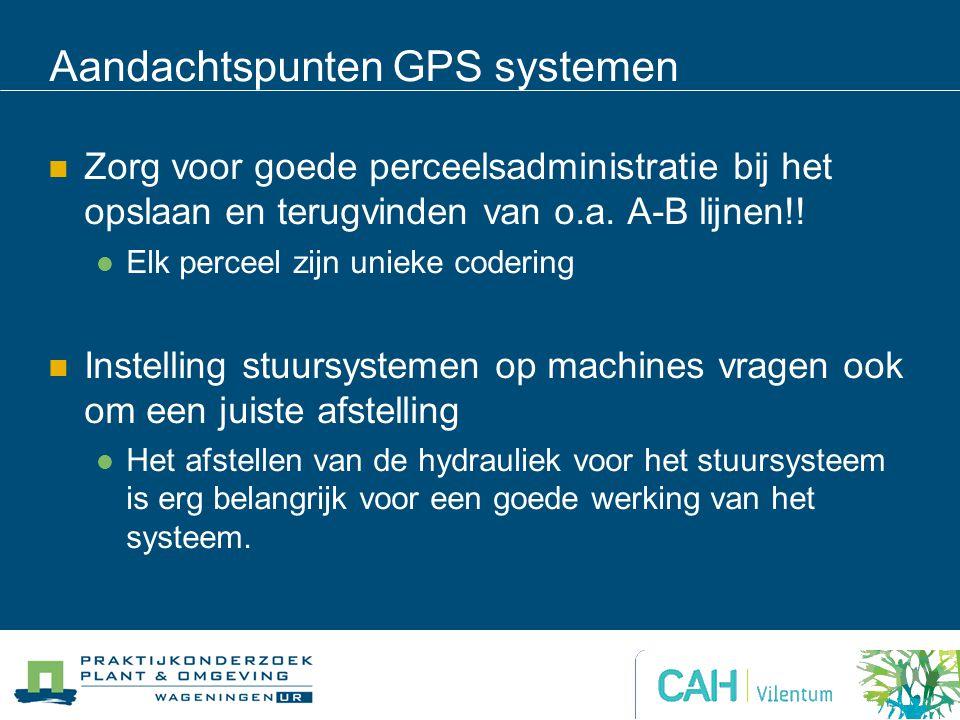 Aandachtspunten GPS systemen