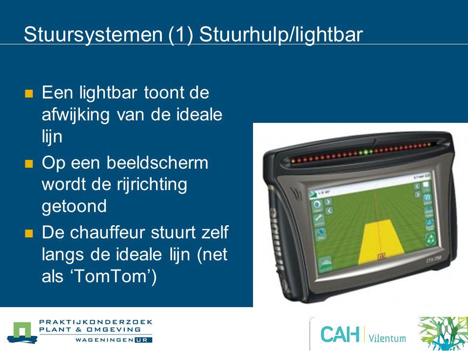 Stuursystemen (1) Stuurhulp/lightbar