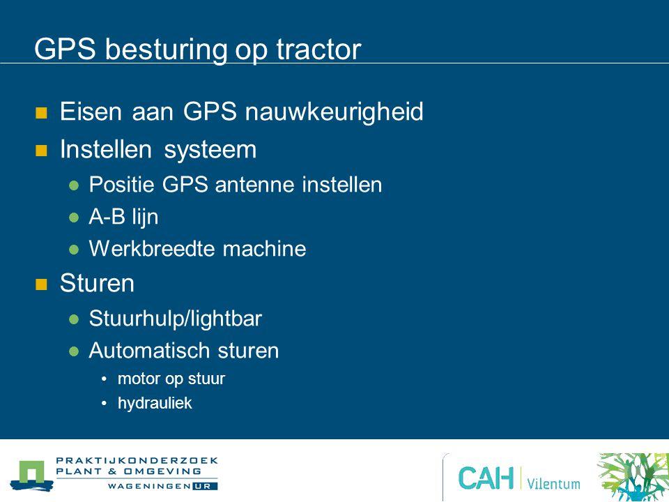 GPS besturing op tractor
