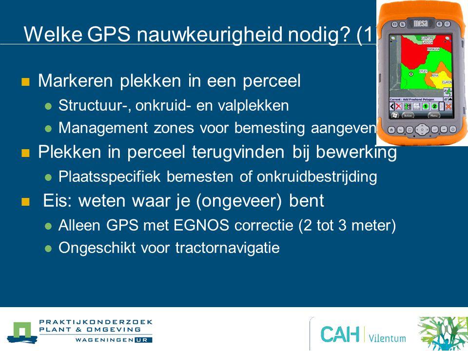 Welke GPS nauwkeurigheid nodig (1)