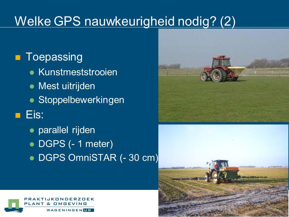 Welke GPS nauwkeurigheid nodig (2)