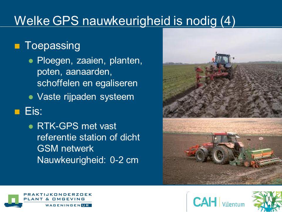 Welke GPS nauwkeurigheid is nodig (4)