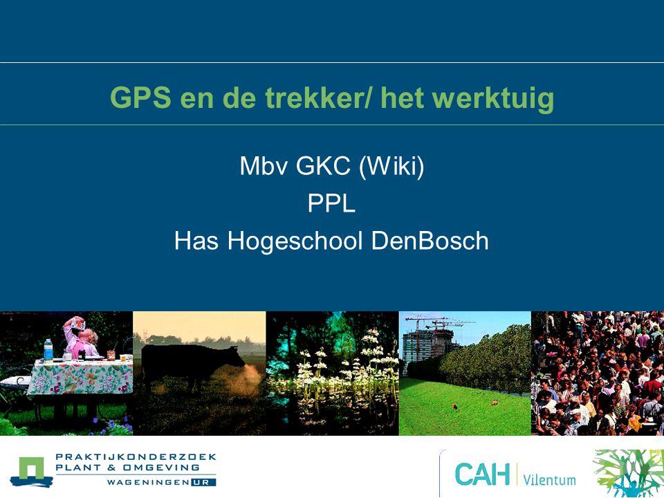 GPS en de trekker/ het werktuig