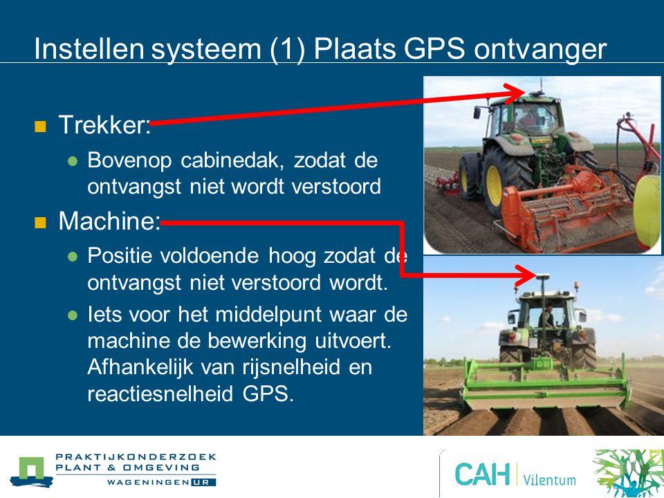 Instellen systeem (1) Plaats GPS ontvanger