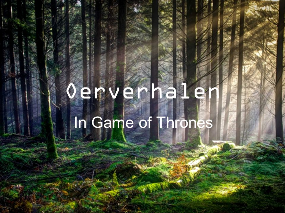 Oerverhalen In Game of Thrones