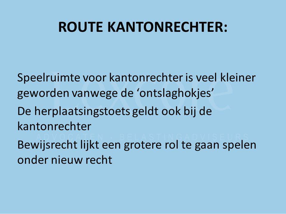 ROUTE KANTONRECHTER:
