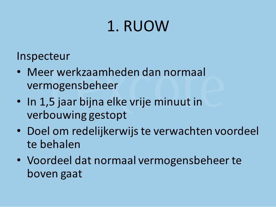 1. RUOW Inspecteur Meer werkzaamheden dan normaal vermogensbeheer