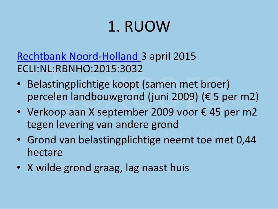 1. RUOW Rechtbank Noord-Holland 3 april 2015 ECLI:NL:RBNHO:2015:3032