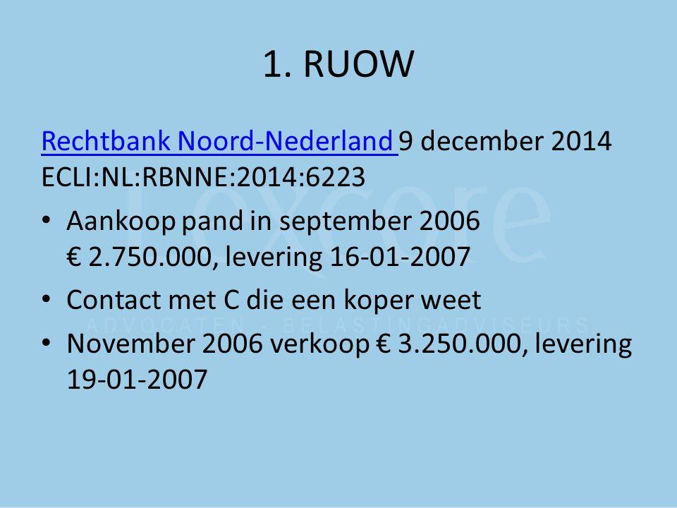 1. RUOW Rechtbank Noord-Nederland 9 december 2014 ECLI:NL:RBNNE:2014:6223.