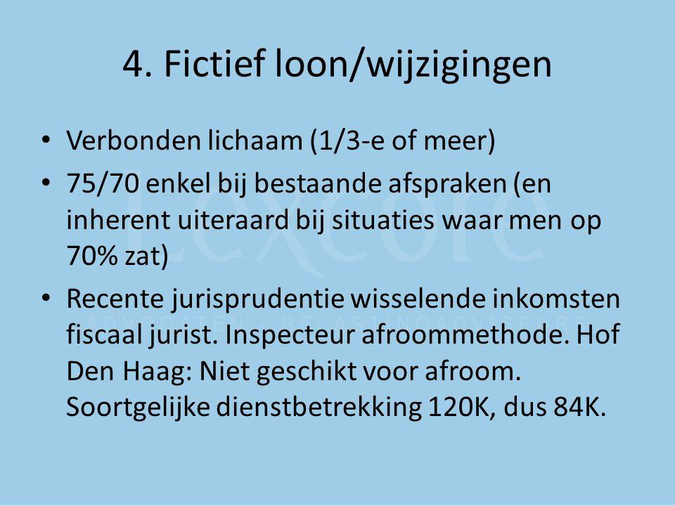 4. Fictief loon/wijzigingen