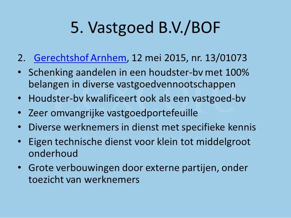 5. Vastgoed B.V./BOF Gerechtshof Arnhem, 12 mei 2015, nr. 13/01073