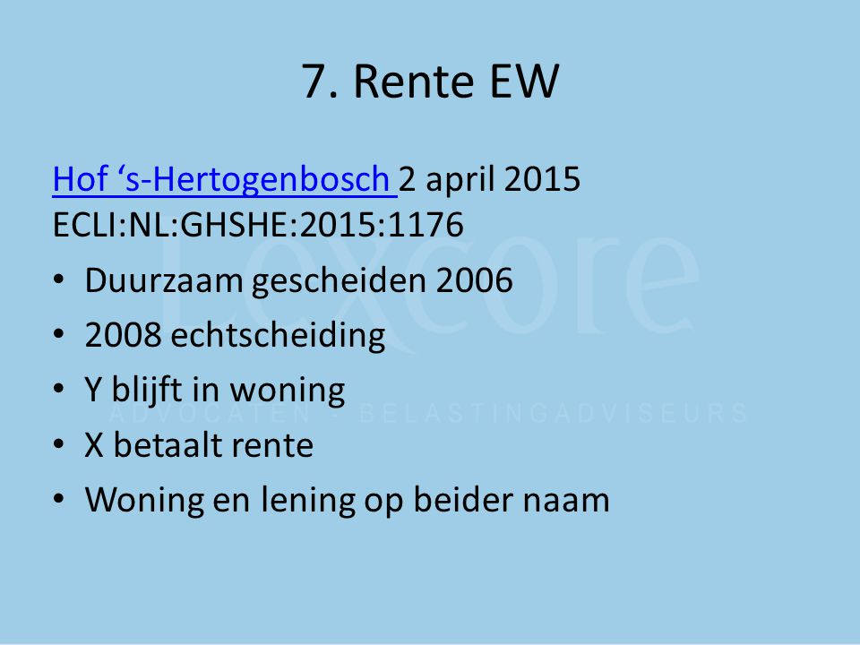 7. Rente EW Hof 's-Hertogenbosch 2 april 2015 ECLI:NL:GHSHE:2015:1176