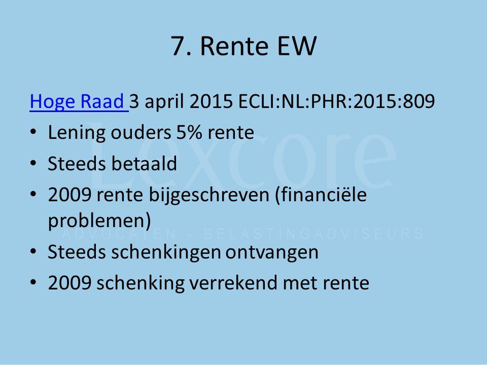 7. Rente EW Hoge Raad 3 april 2015 ECLI:NL:PHR:2015:809