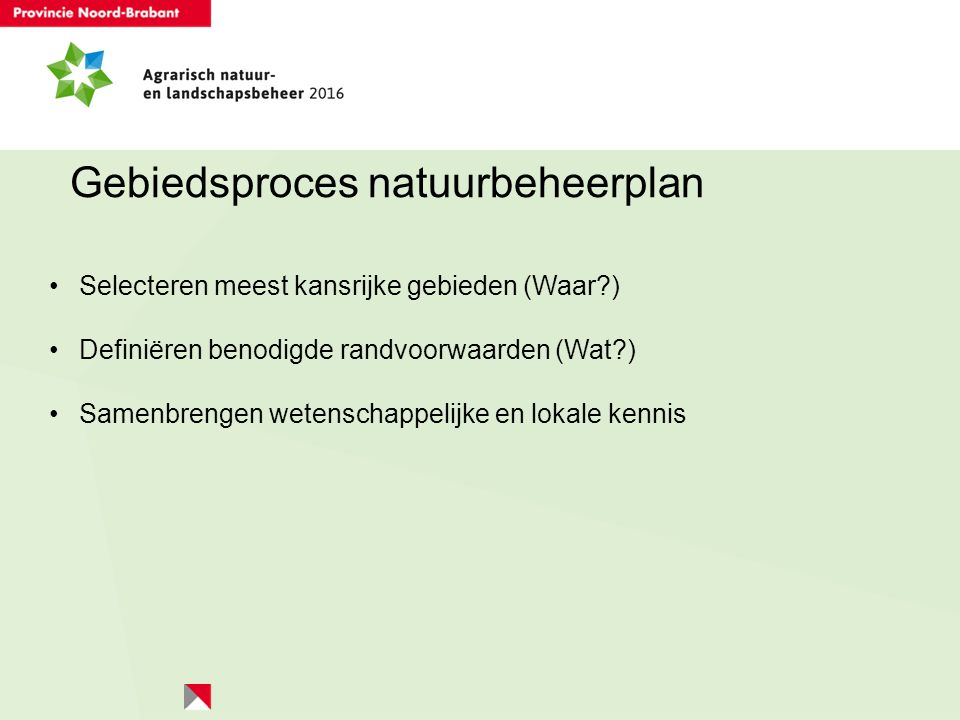 Gebiedsproces natuurbeheerplan