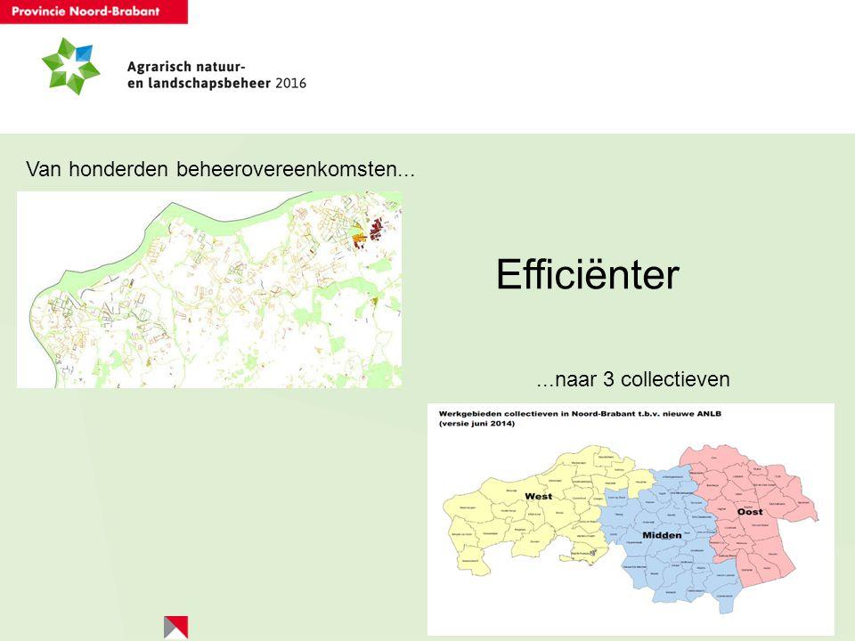 Efficiënter Van honderden beheerovereenkomsten...