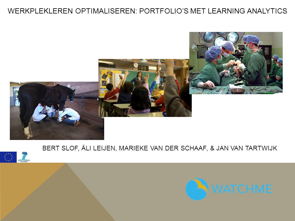 Werkplekleren optimaliseren: Portfolio's met Learning Analytics