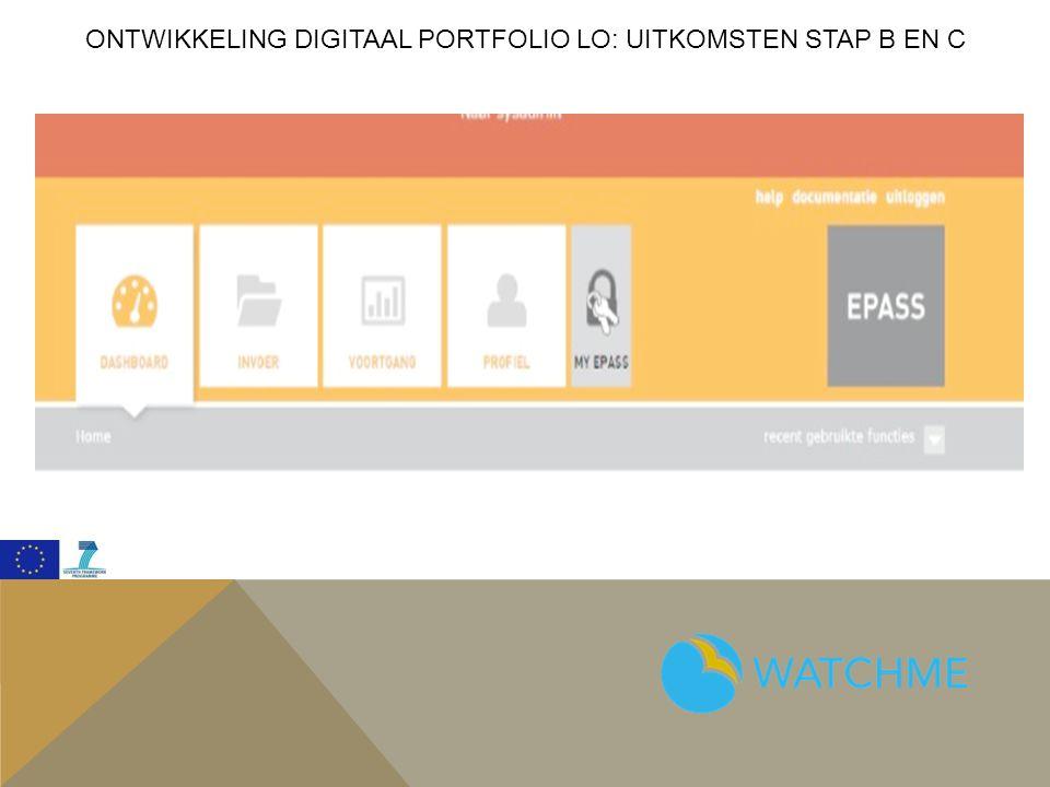 Ontwikkeling digitaal portfolio lo: Uitkomsten Stap b EN c