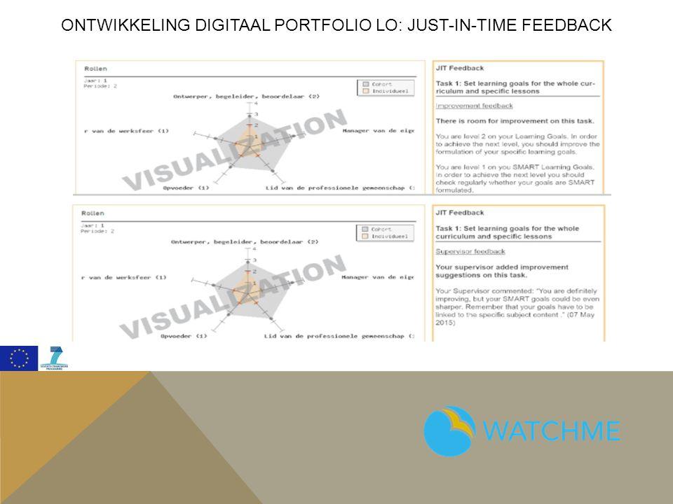 Ontwikkeling digitaal portfolio lo: just-in-time feedback