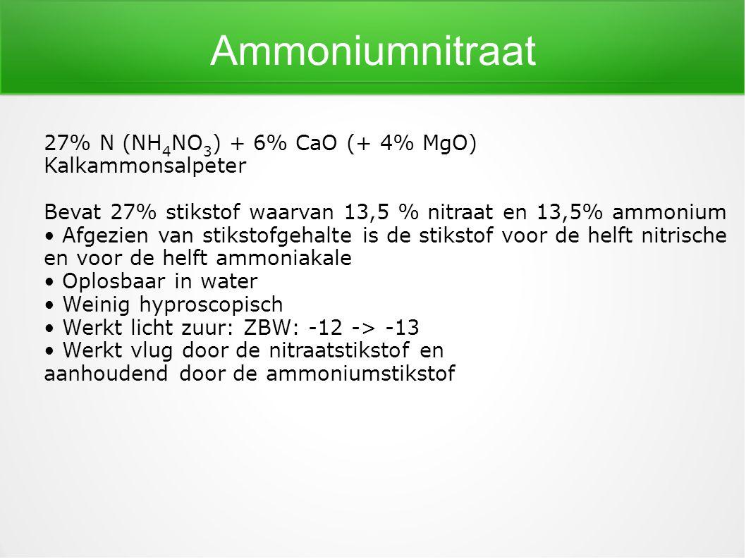 Ammoniumnitraat 27% N (NH4NO3) + 6% CaO (+ 4% MgO) Kalkammonsalpeter