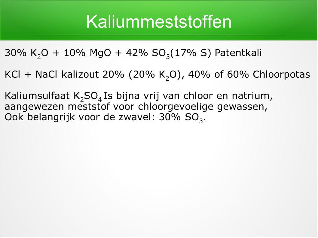 Kaliummeststoffen 30% K2O + 10% MgO + 42% SO3(17% S) Patentkali