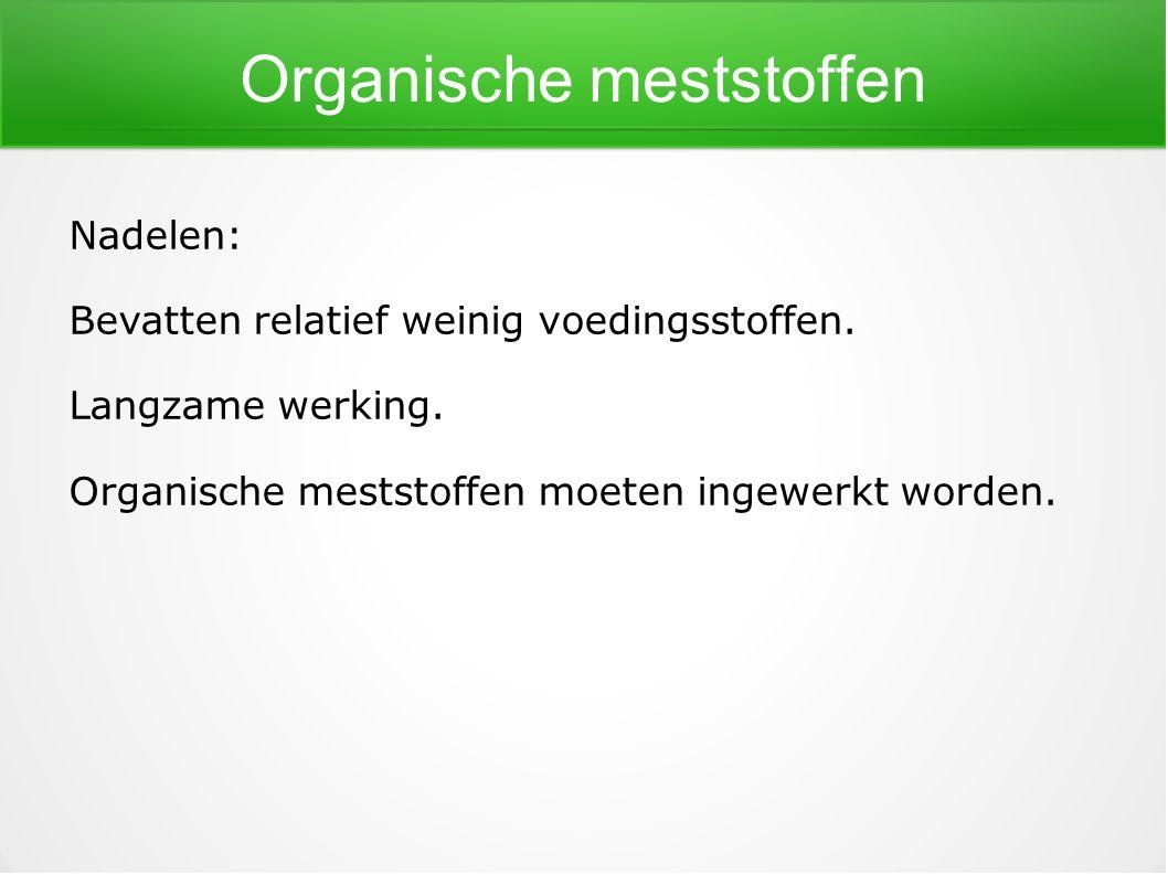 Organische meststoffen