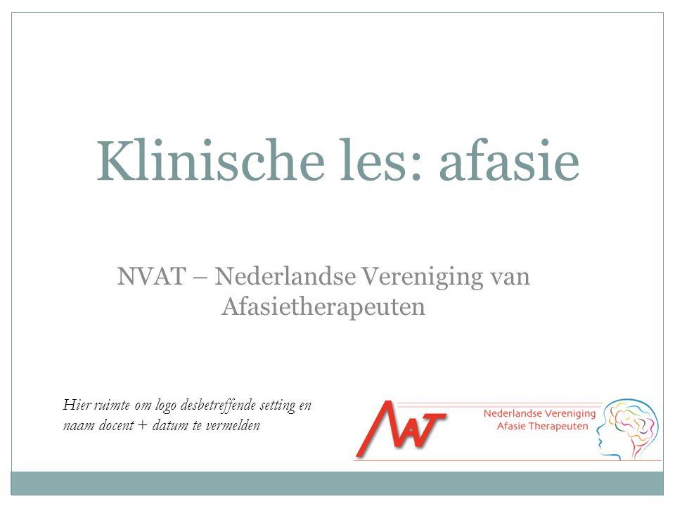 NVAT – Nederlandse Vereniging van Afasietherapeuten