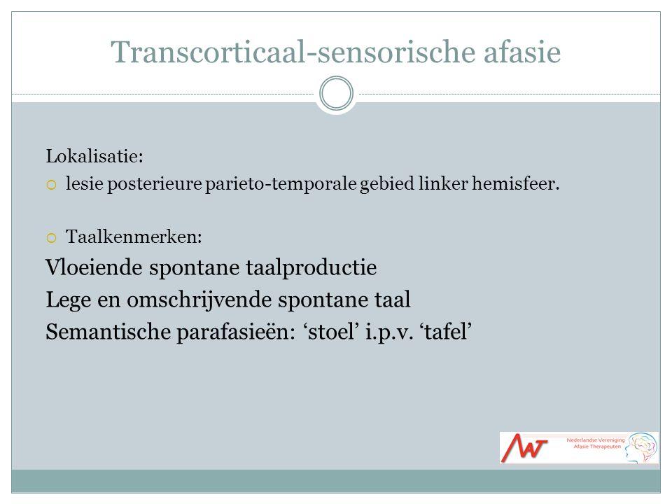 Transcorticaal-sensorische afasie