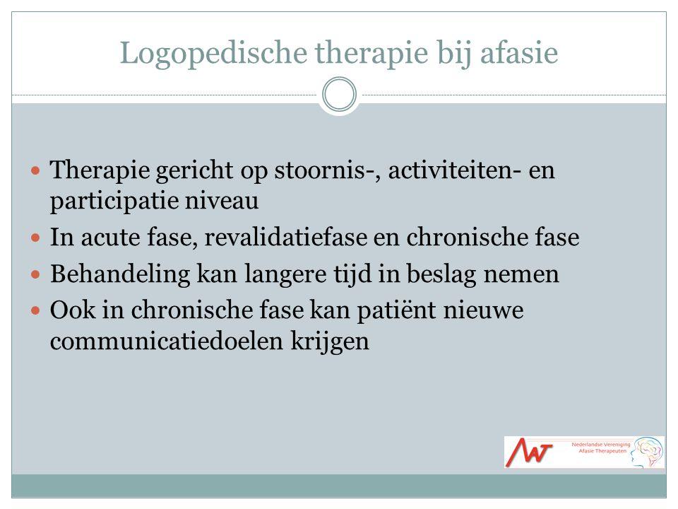 Logopedische therapie bij afasie