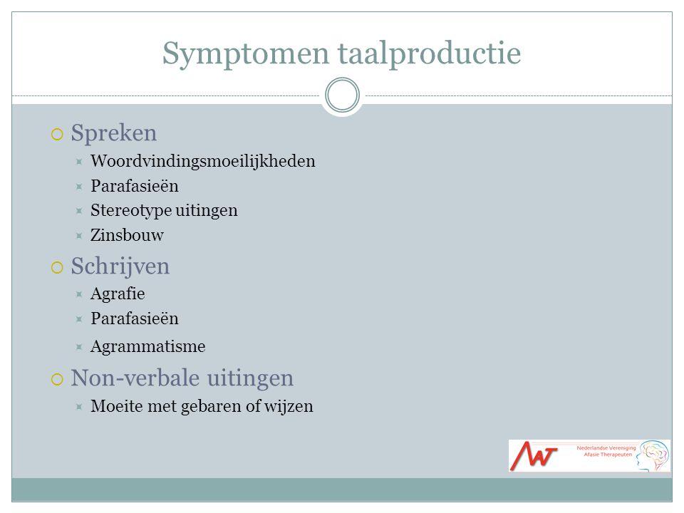 Symptomen taalproductie