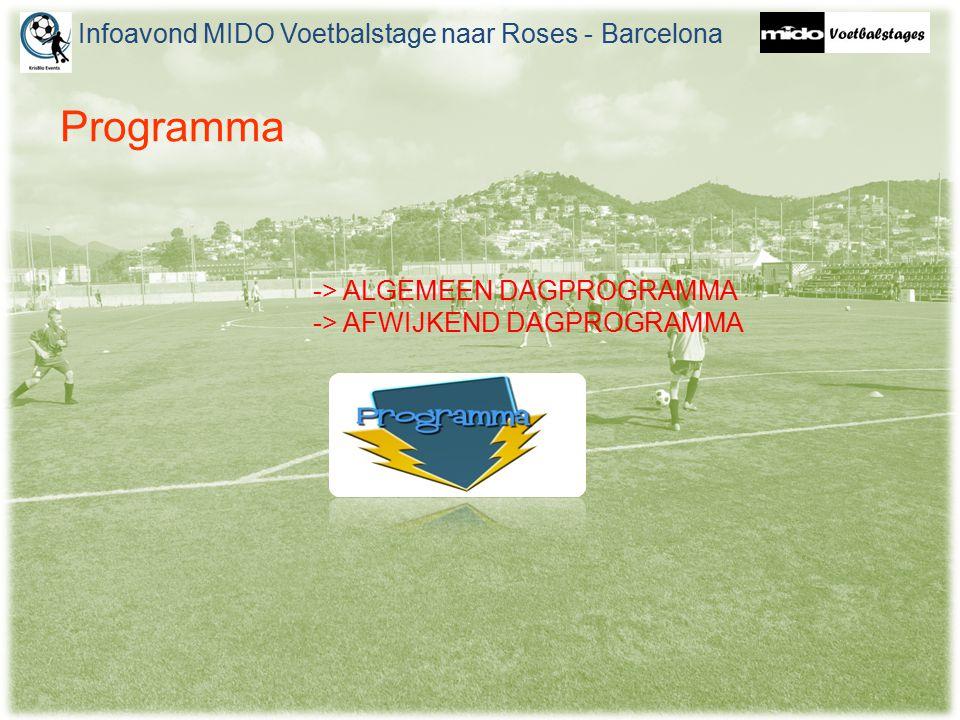 Infoavond MIDO Voetbalstage naar Roses - Barcelona