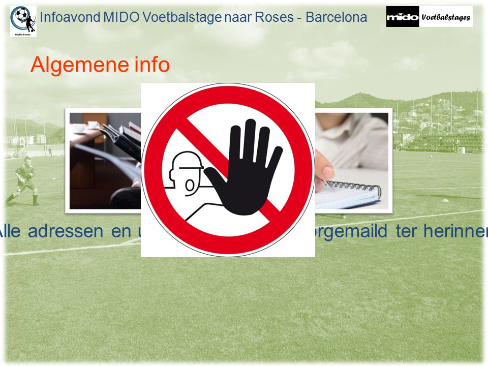Algemene info Deze presentatie komt online