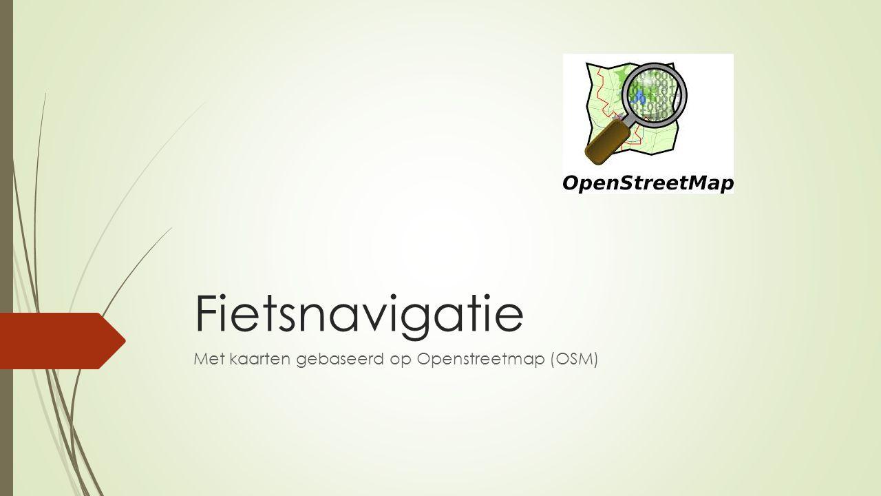 Met kaarten gebaseerd op Openstreetmap (OSM)