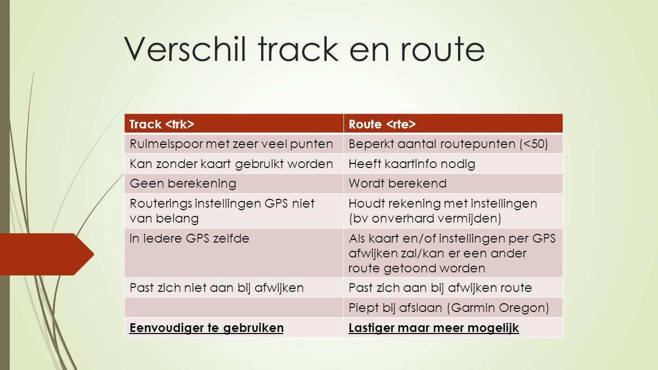Verschil track en route