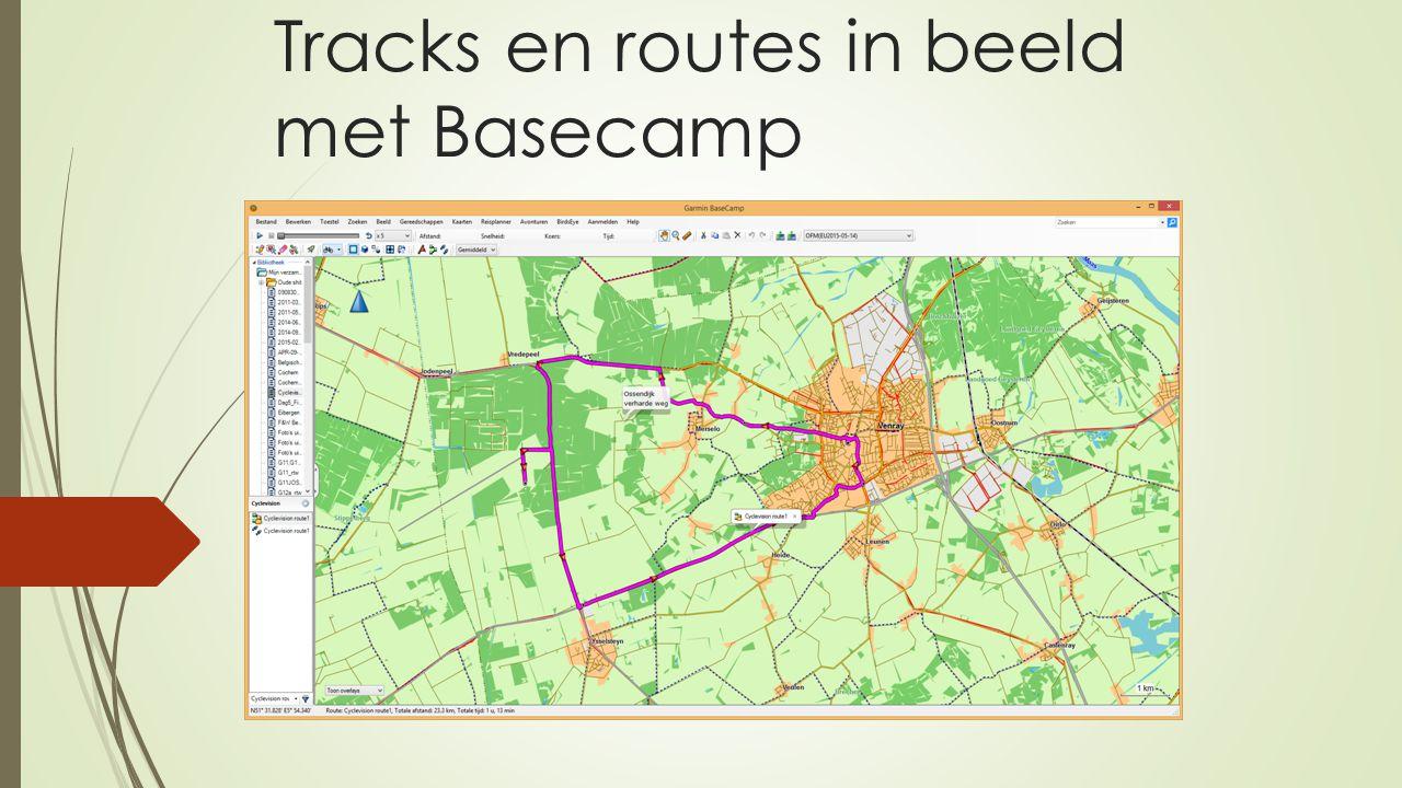 Tracks en routes in beeld met Basecamp