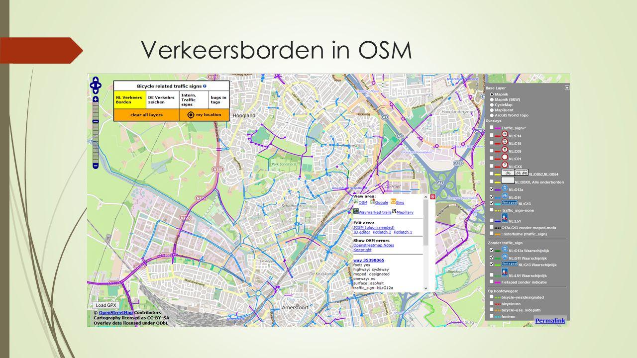 Verkeersborden in OSM