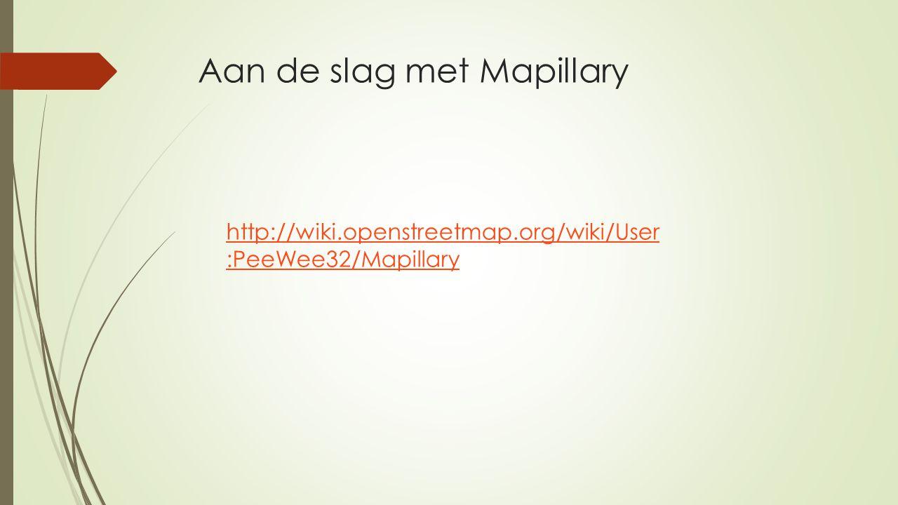 Aan de slag met Mapillary
