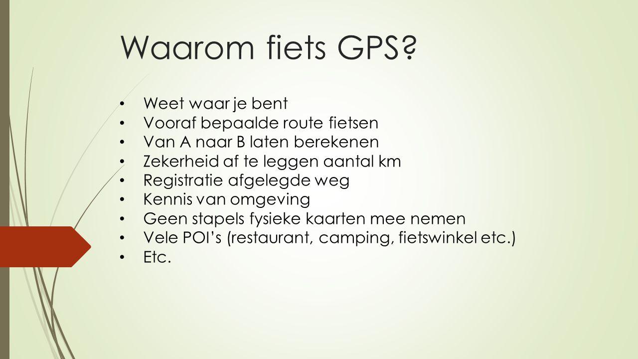 Waarom fiets GPS Weet waar je bent Vooraf bepaalde route fietsen