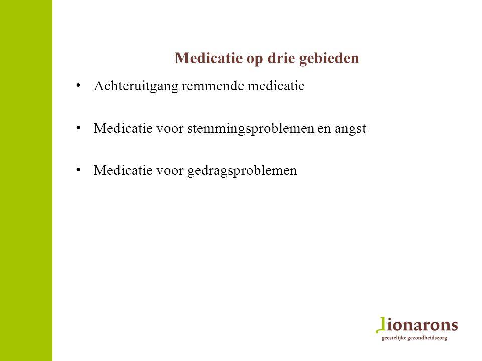 Medicatie op drie gebieden