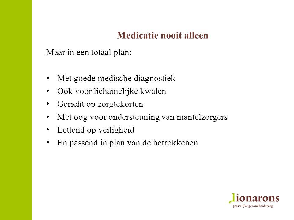 Medicatie nooit alleen