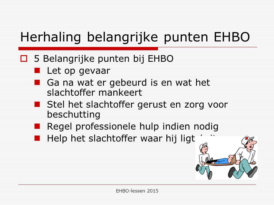 5 belangrijke punten van ehbo