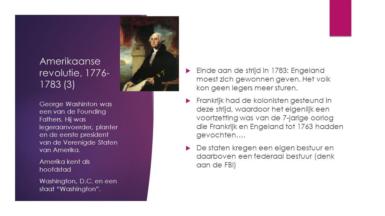 Amerikaanse revolutie, 1776-1783 (3)