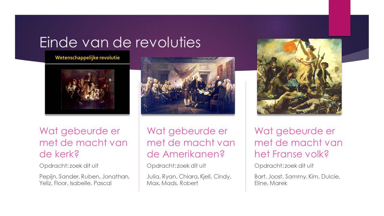 Einde van de revoluties